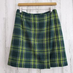 NY&CO Wool Blend Plaid Skirt